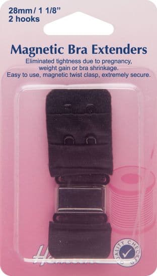 H777.28.B Magnetic Bra Extender: Black - 28mm