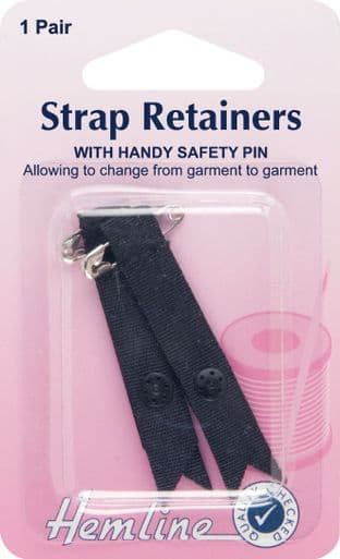 H788.B Shoulder Strap Retainer with Safety Pin: Black