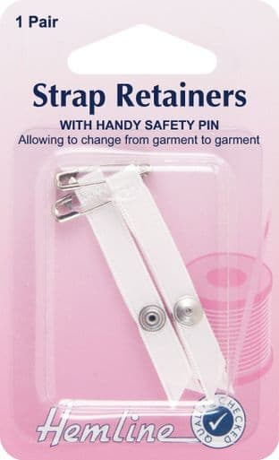 H788.W Shoulder Strap Retainer with Safety Pin: White