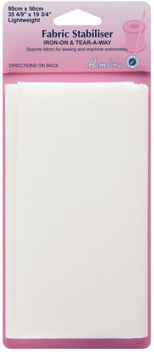 H841 Fabric Stabiliser: Iron-On - 90 x 50cm