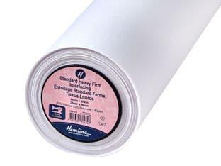 HN113: Interfacing: Standard: Heavy/Firm: Sew-in: 25m x 90cm: White