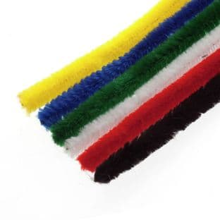 Jumbo Chenille 12mm x 30cm: 50 pcs - Full Colour Range