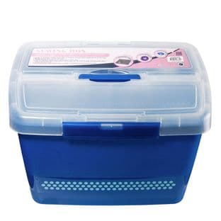 MR4609.NAVY Sewing Box: Plastic Caddy: Navy