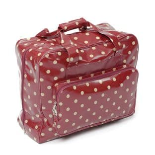 MRB.003 Value Collection: Sewing Machine Bag: PVC: Red Spot