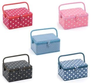 MRM Value Collection: Polka Dot Sewing Box (M): Rectangle - Choice of Colours