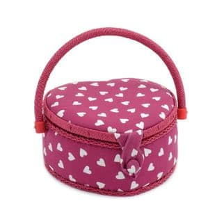 MRSH\189 Value Collection: Sewing Box (S): Heart Shaped: Raspberry Heart