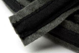 N4336.DG Felt Covered Boning - 10m x 18mm: Dark Grey