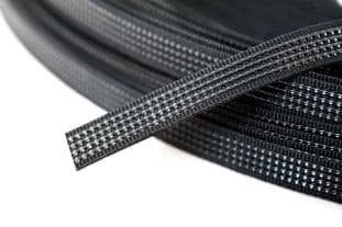 N4431.8.B Uncovered Polyester Boning - 40m x 8mm: Black