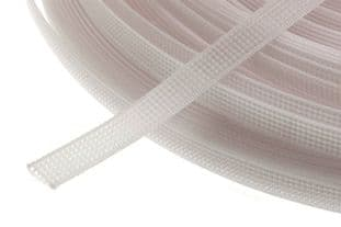 N4431.8.W Uncovered Polyester Boning - 40m x 8mm: White