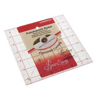 NL4177 Quilting Rule: Square: 6.5 x 6.5 inch