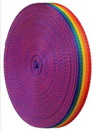 Rainbow Polyprop webbing 25mm
