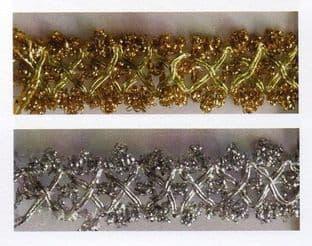 SP-02 Metallic Cluster Braid Trimming - 10m - Full Colour Range