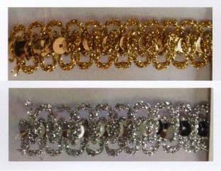 SP-04 Metallic Braid Trimming: Double Loop Sequin - 10m - Full Colour Range