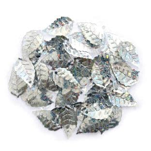 TE00 Sequins: Leaf Holographic: 5 Packs of 2.5g