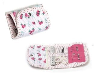 TK04\118 Sewing Kit: Purse: Rose Spot
