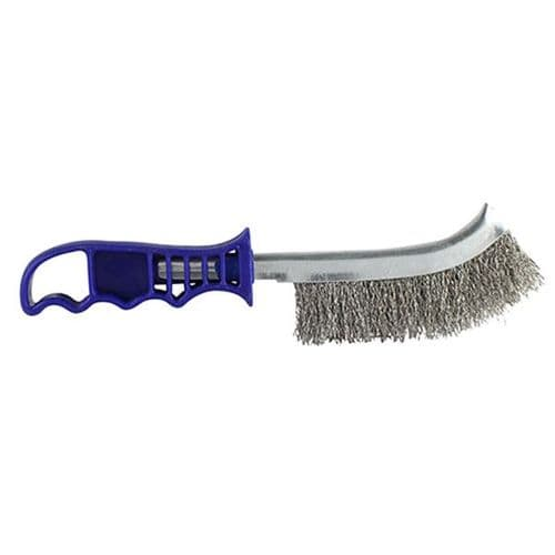 Blue Handle Wire Brush S/Steel BWHB