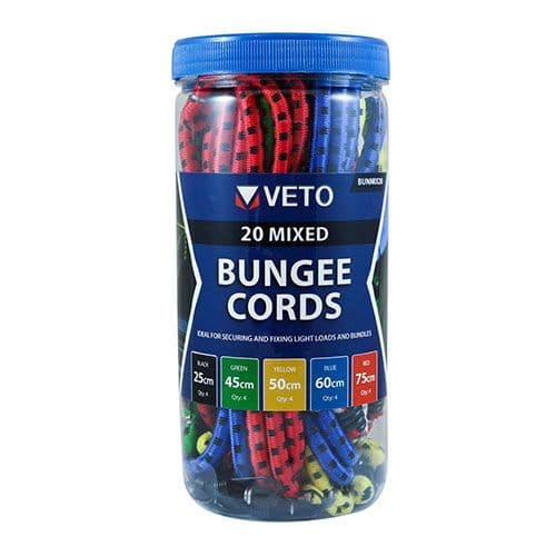 Bungee Cords Mixed Pack 20