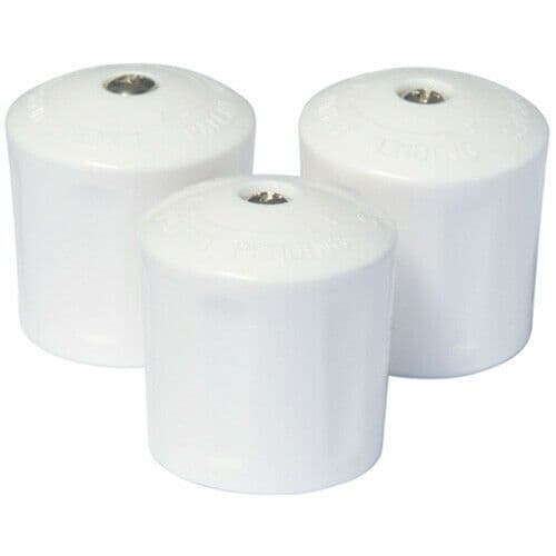 Easi Plumb Universal Replacement Radiator Valve Cap White -pack of 3