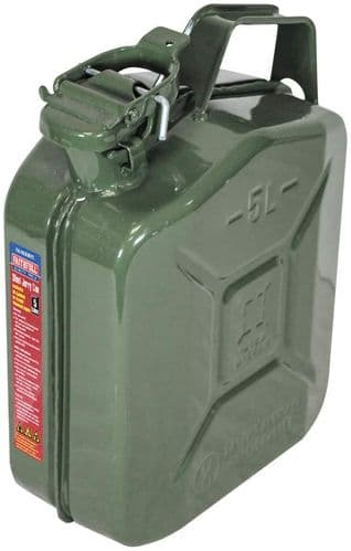 Green Jerry Can - Metal 5 litre