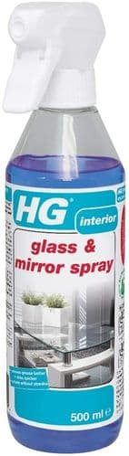 HG Glass & Mirror Spray 500 ml is a streak-free glass cleaner which removes grease and dirt quickly
