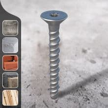 Multi-Fix Concrete Bolt - Countersunk