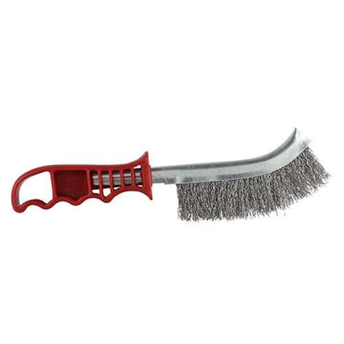 Red Handle Wire Brush Steel RWHB