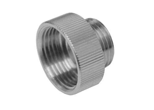 Shower Hose Reducer Chrome Plated Metal Adapter 3/4 FL To 1/2 ML (1)