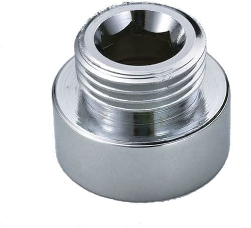 Shower Hose Reducer Chrome Plated Metal Adapter 3/4 FL To 1/2 ML