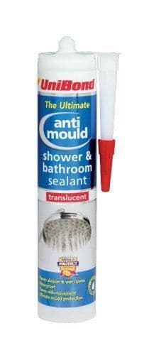 UniBond Anti Mould Shower Bathroom Sealant Cartridge - Translucent