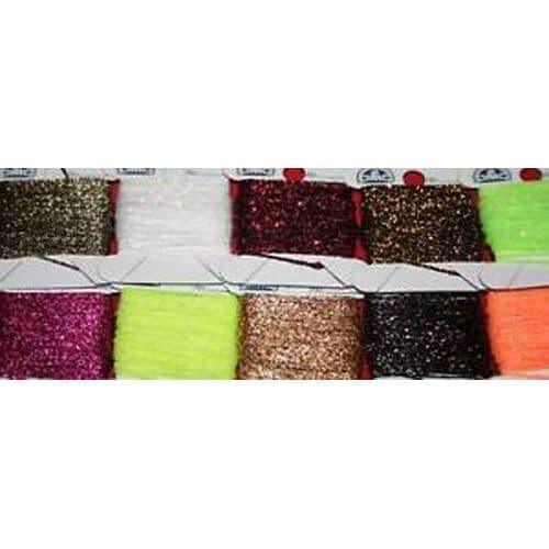 Fly Tying Micro Glitterbody woven floss lurex set of 10 colours M3