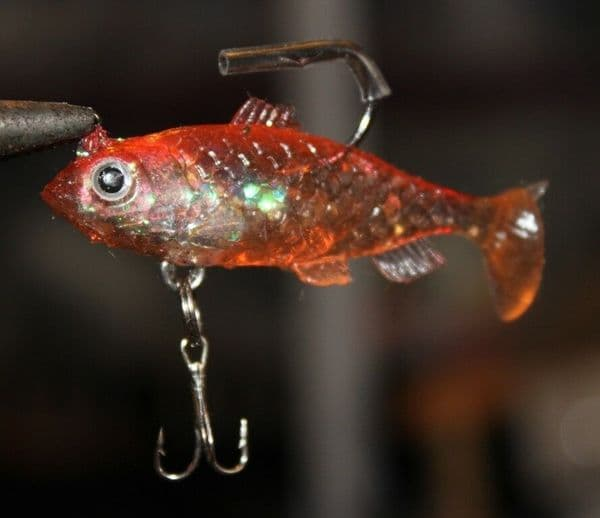Paddle Tail Silicon lures set of four colours. Enticing action lure fishing