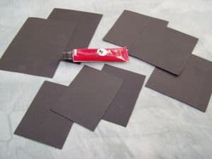 Black Witch Repair Kit glue 8 membrane patches Wetsuits Drysuits Fishing Wader