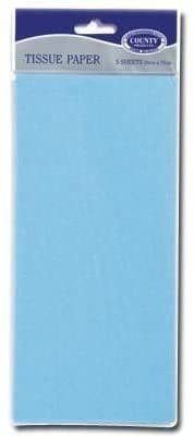 Baby Blue Tissue Paper 10 Sheets