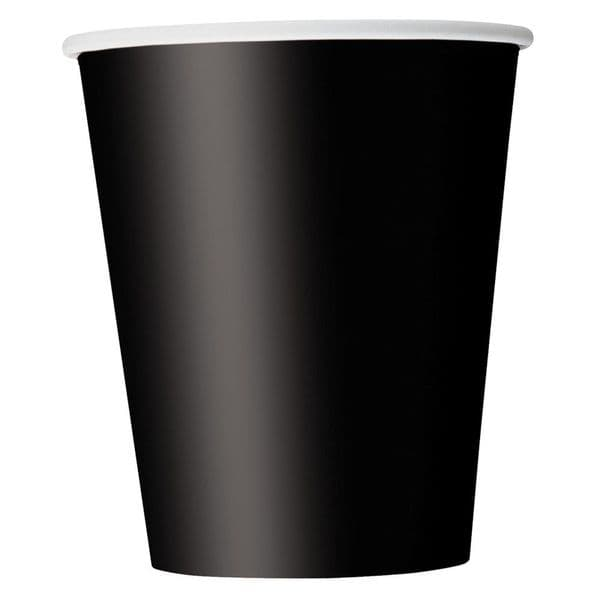 Black Paper Cups 8pk - 266ml