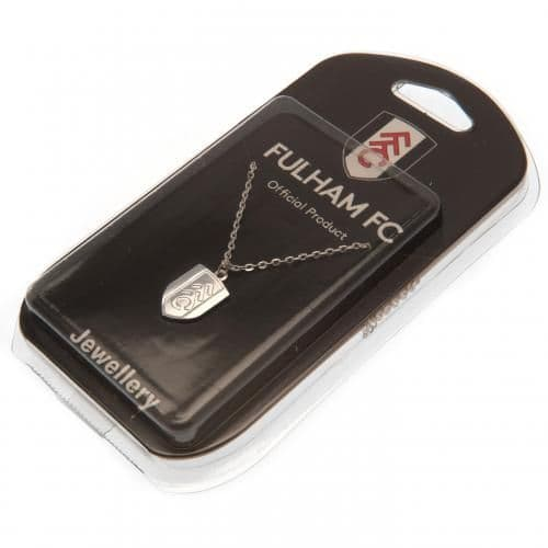 Fulham FC Silver Plated Pendant Chain