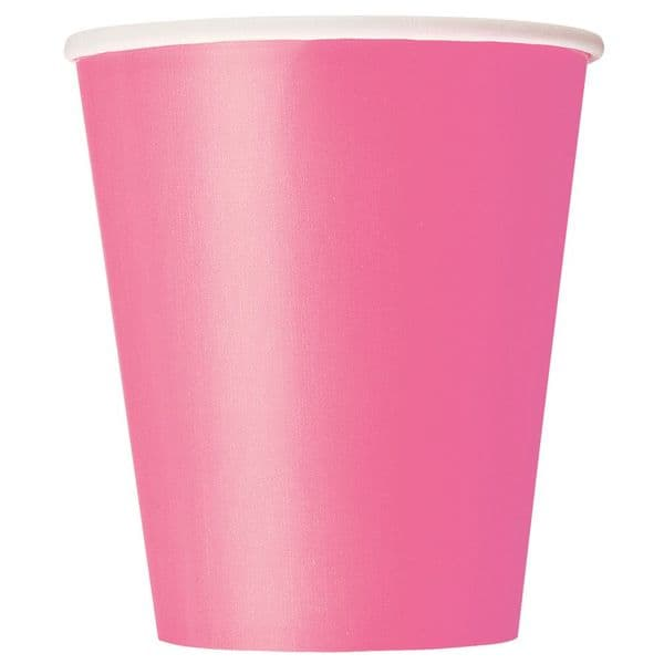 Hot Pink Paper Cups 8pk - 266ml