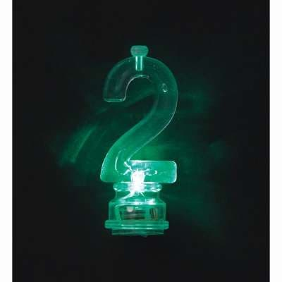 Number 2 Flashing Candle Holder, With 4 Candles