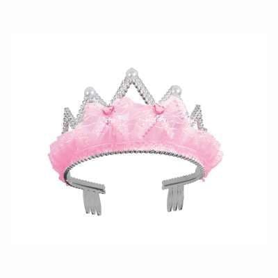 Pink Bow & Ribbon Tiara