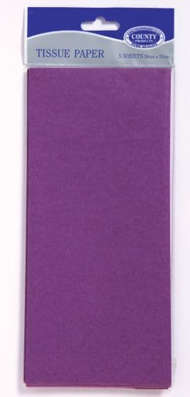 Purple Tissue Paper 10 Sheets