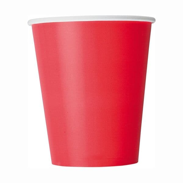Red Paper Cups 8pk - 266ml