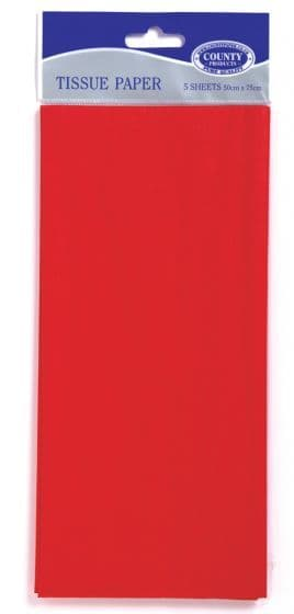 Red Tissue Paper 10 Sheets