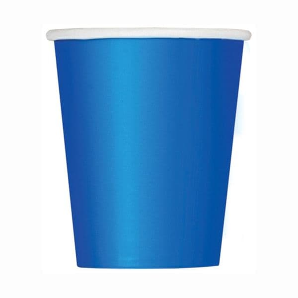 Royal Blue Paper Cups 8pk - 266ml