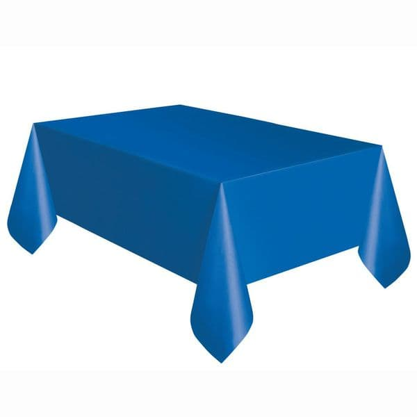 Royal Blue Rectangular Plastic Table Cover