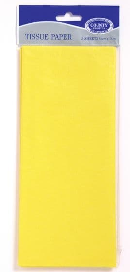 Yellow Tissue Paper 10 Sheets