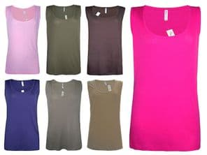 Wholesale Clothing - Wholesale Womens B.C Long Vest Tank Top Ribbed Plus Size 26 to 32 - Womens Wholesale Clothing - iFashionWholesale.com - Specialist in Ex Chainstore Wholesale Clothing.