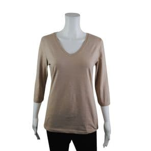 Wholesale Womens Tops & T-Shirts - Wholesale Womens Ex Chainstore T-Shirt 3/4 Sleeve Top Brown - Womens Wholesale Clothing - iFashionWholesale.com - Specialist in Ex Chainstore Wholesale Clothing.