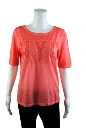 Wholesale Womens Tops & T-Shirts - Wholesale Womens Ex Chainstore T-Shirt Top NYC Lace Burnt Orange - Womens Wholesale Clothing - iFashionWholesale.com - Specialist in Ex Chainstore Wholesale Clothing.