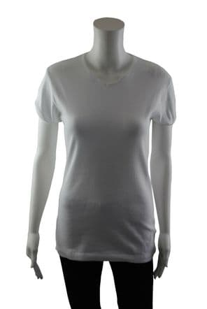 Wholesale Womens Tops & T-Shirts - Wholesale Womens Ex Chainstore V Neck T Shirt Top Ribbed White - Womens Wholesale Clothing - iFashionWholesale.com - Specialist in Ex Chainstore Wholesale Clothing.