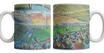 franklins gardens on matchday mug