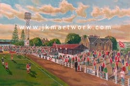 Hand Painted original of annfield ,safc
